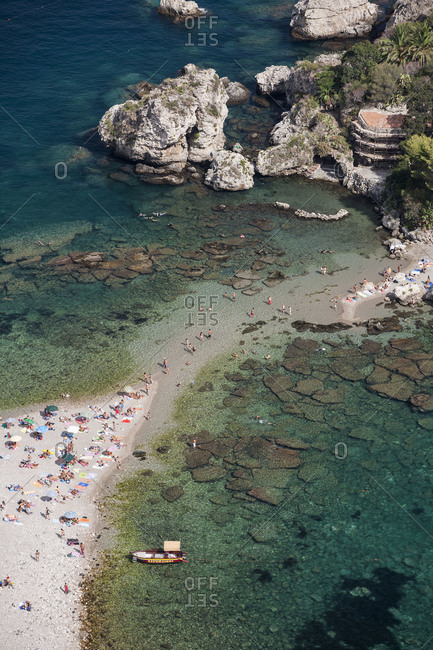 Shoal near the Isola Bella island, Sicily