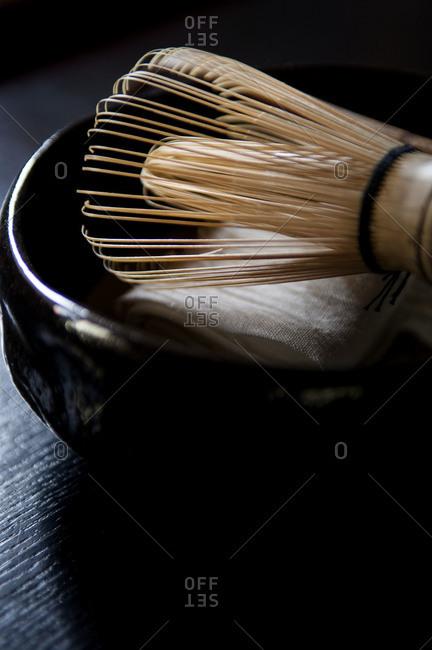 Traditional matcha tea set