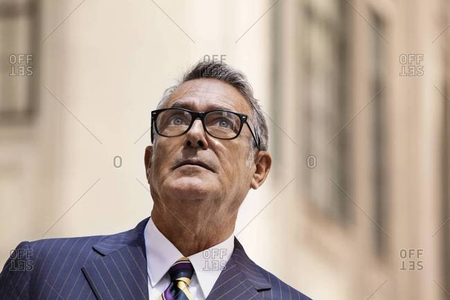 Portrait of a businessman with glasses