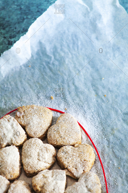 Home-baked Valentine\'s cookies
