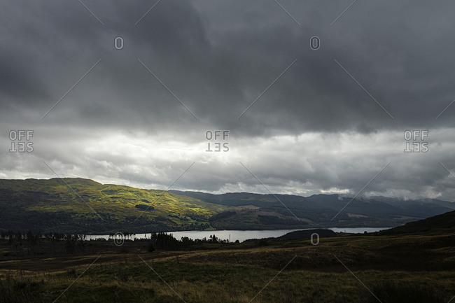 Dramatic sky, Scottish Highlands