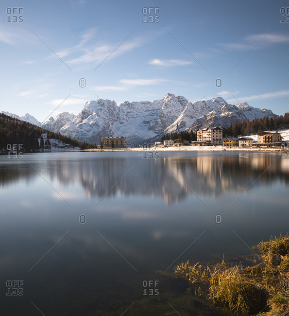 Lake Misurina in autumn - Offset