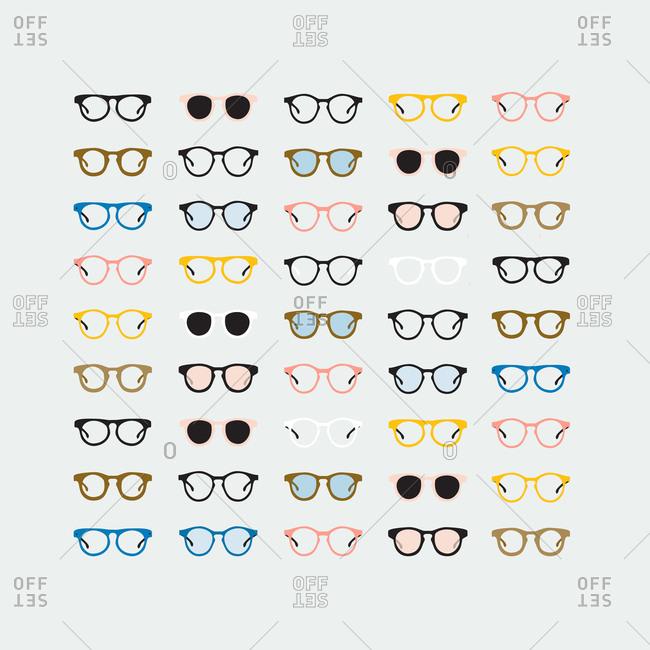 Illustration of various glasses