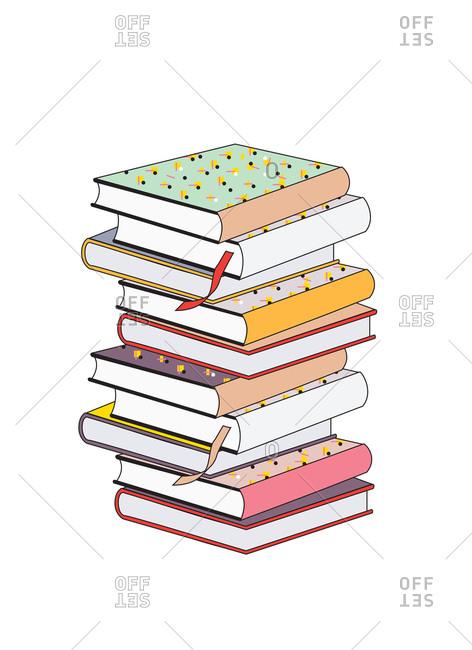 Illustration of stacked books