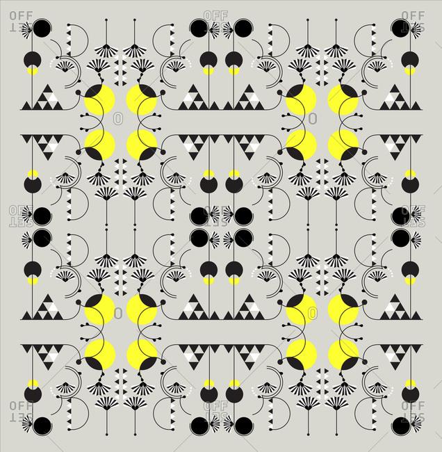Intricate geometric pattern