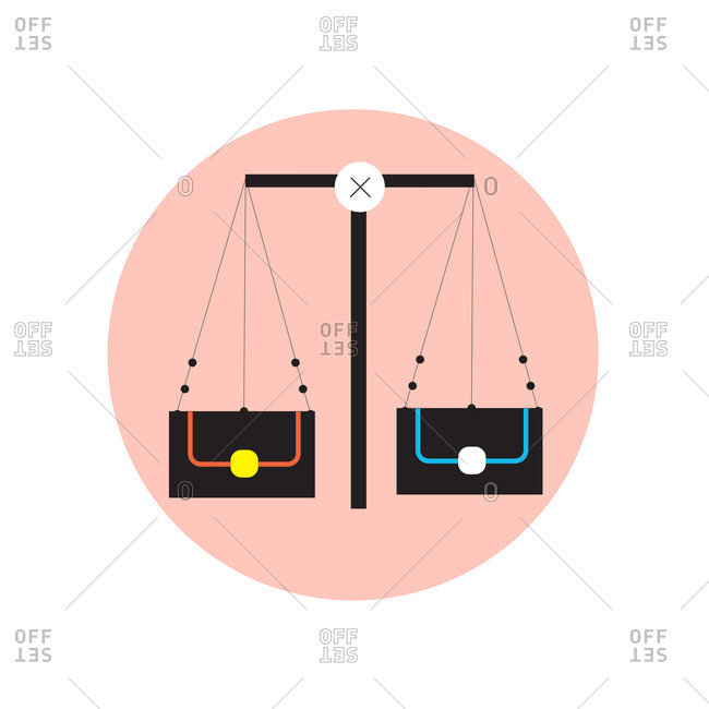 Illustration of the Libra zodiac sign