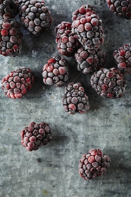 Frozen blackberries