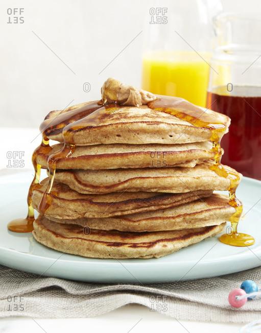 A stack of wholegrain pancakes
