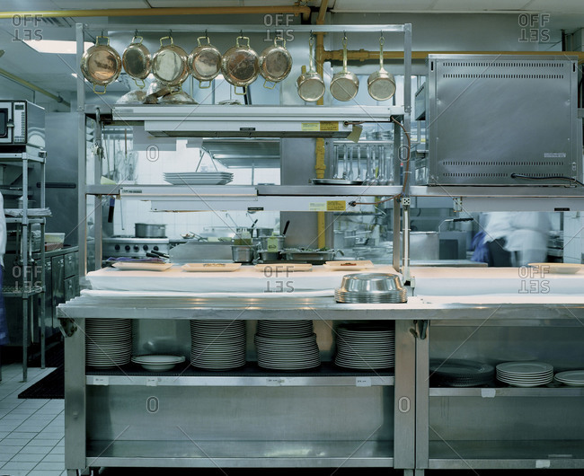 Interior of a commercial kitchen&#10,