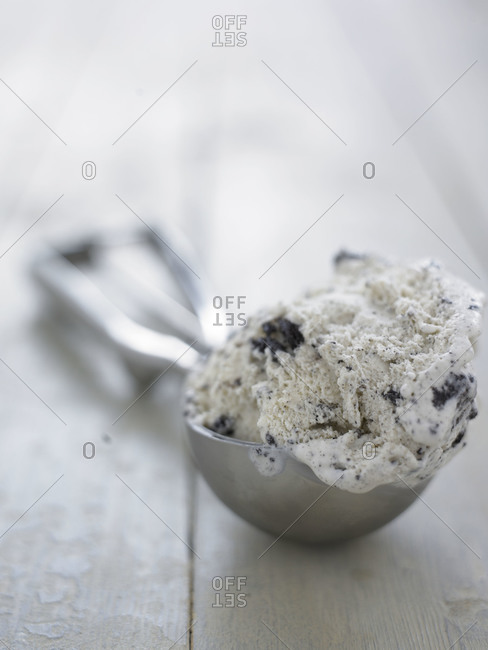 Close up of  an ice cream scoop