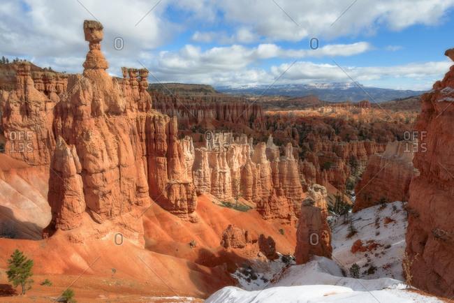 Pinnacles canyon at sunny day, Utah, USA