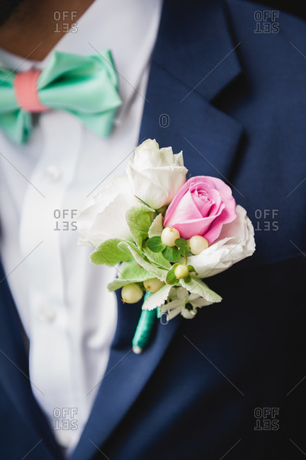 Man with a boutonniere and bow-tie