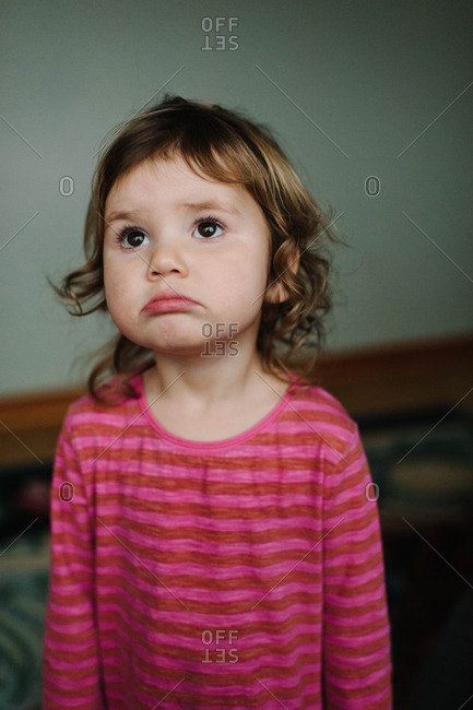 Portrait of an upset girl