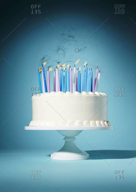 Studio shot of a birthday cake