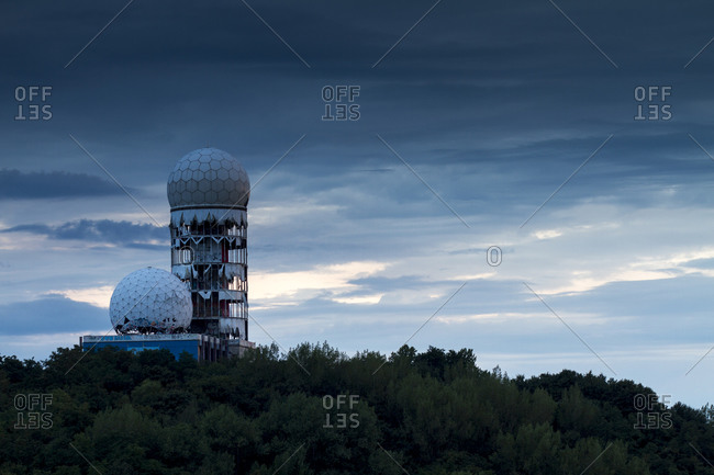 Berlin, Germany - August 14, 2014: Former US-American communications intercept at Devil's Mountain