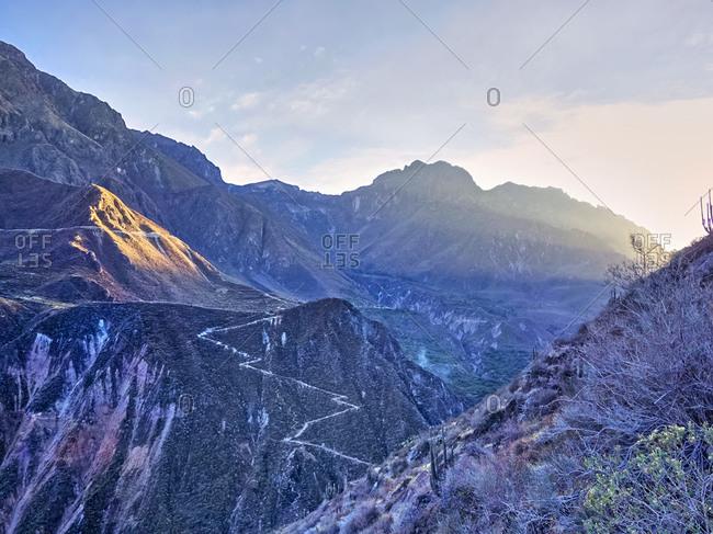 Colca Canyon at twilight