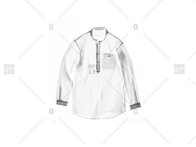 Studio shot of a white shirt