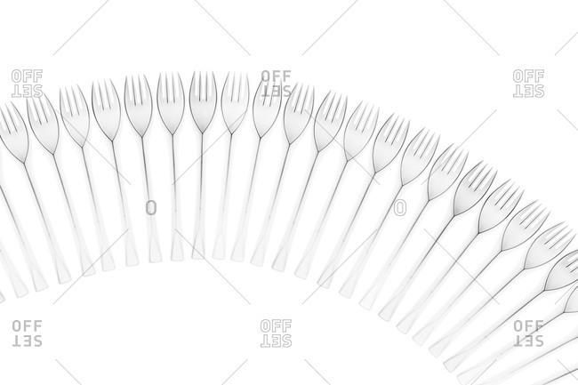Studio shot of forks