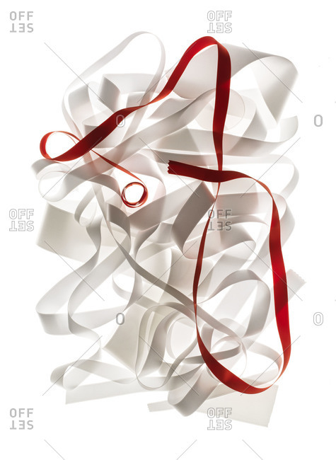Red and white ribbon