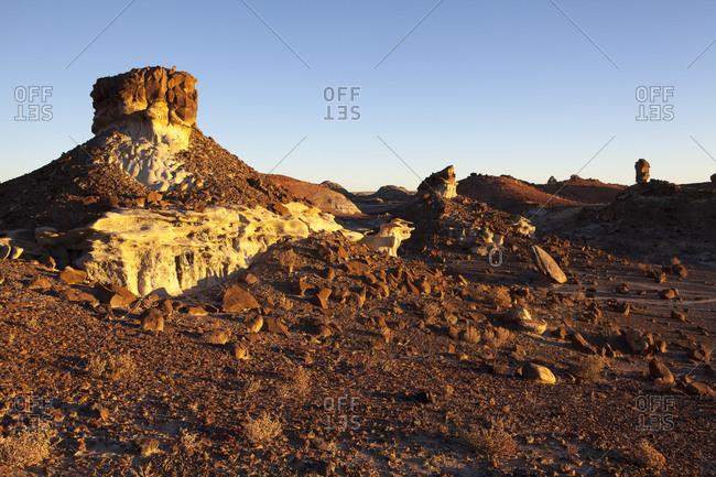 Rock towers of desert landscape