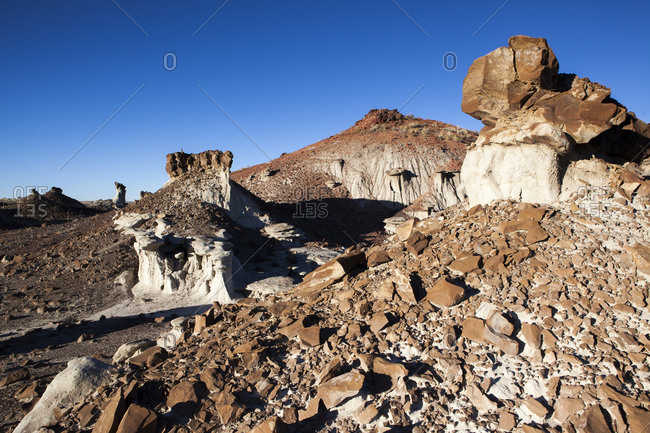 Rocky rugged desert landscape