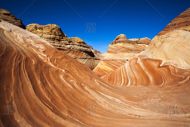 The Wave geological formation in Utah's Colorado Plateau