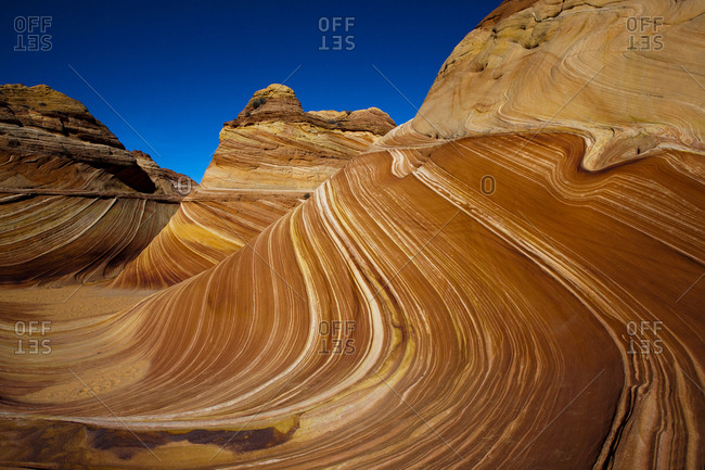 The Wave, geological formation in Coyote Butte, Utah