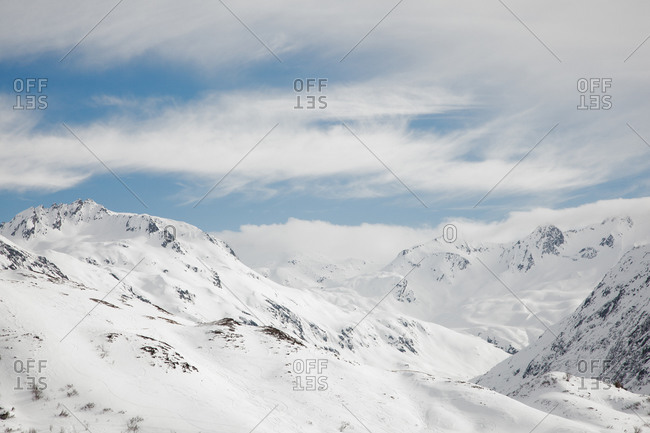 Top of Swiss Alps from the Natschen, Andermatt