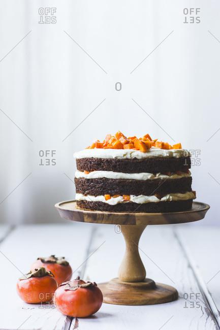 Gluten-free persimmon layer cake