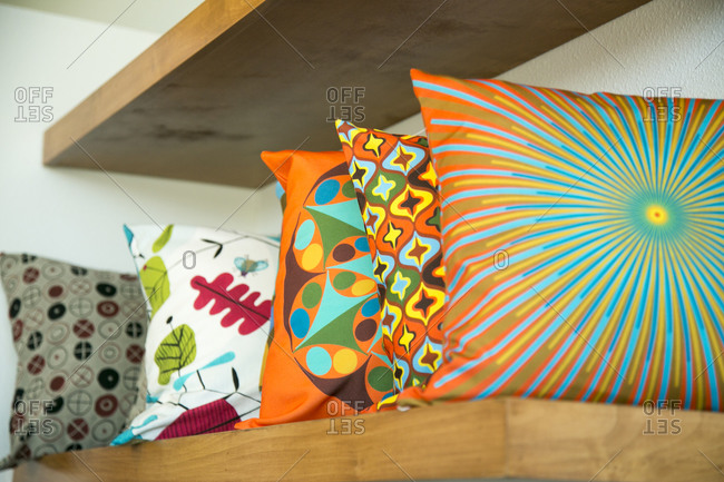 Funky mid-century designed pillows - Offset