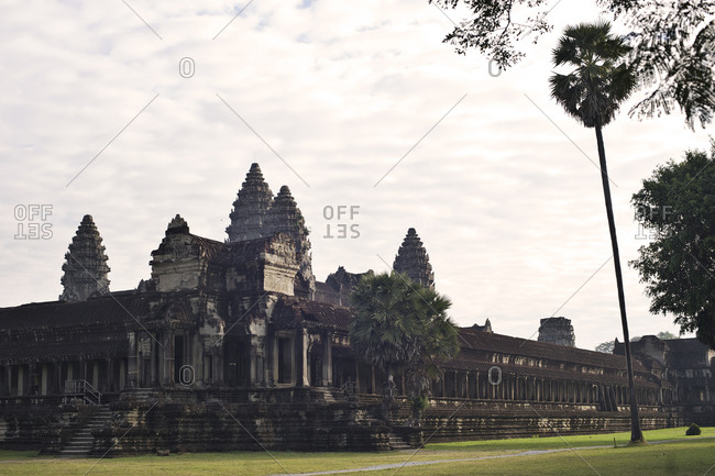 Exterior of Angkor Wat Temple in Cambodia