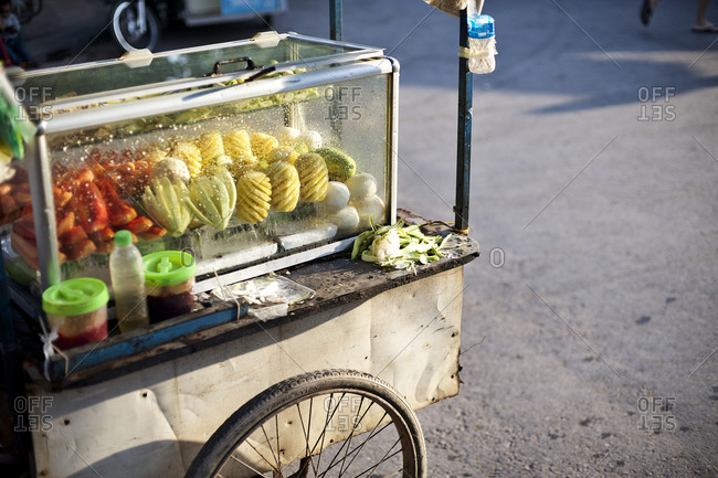 Food cart on a street