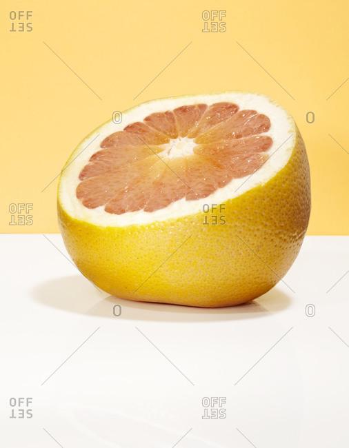A half of a grapefruit