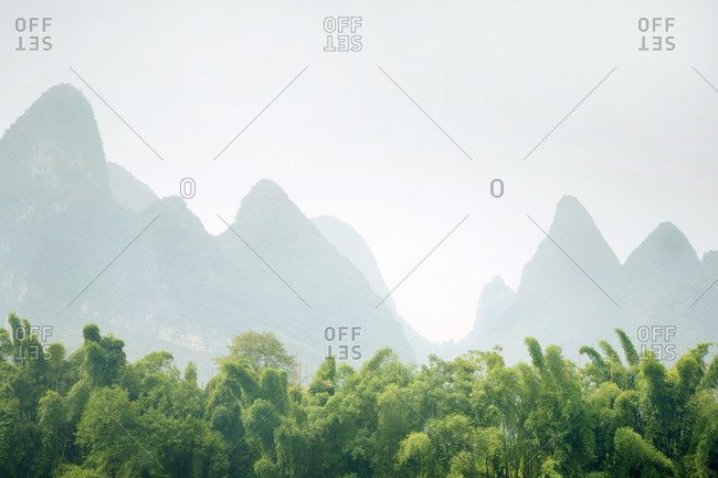 Karst mountains in Guilin, China