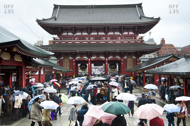Toyko, Japan - March 30, 2012: Senso-ji Buddhist temple