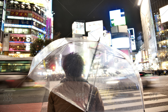 Shibuya, Tokyo, Japan in the rain