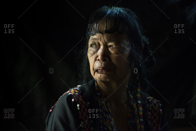 Mindanao, Philippines - June 6, 2014: Portrait of a Mansaka woman