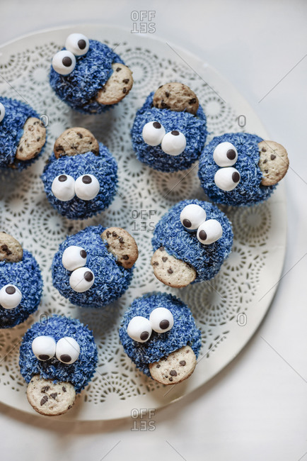 Monster Muffins on a plate