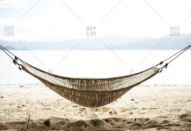 Hammock on a beach near El Nido
