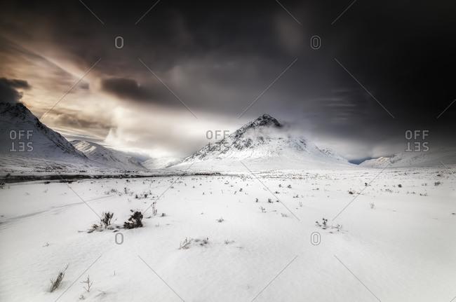 Highland, Buachaille Etive Mor, dramatic sky