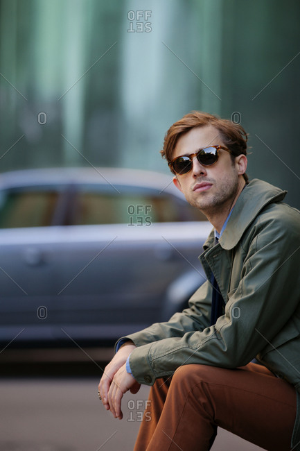 Portrait of young stylish man
