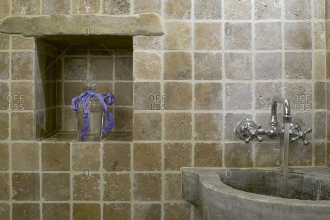 La Colombaia (Farmhouse), Tuscany, Italy - November 27, 2008: Bathroom in Tuscan farmhouse