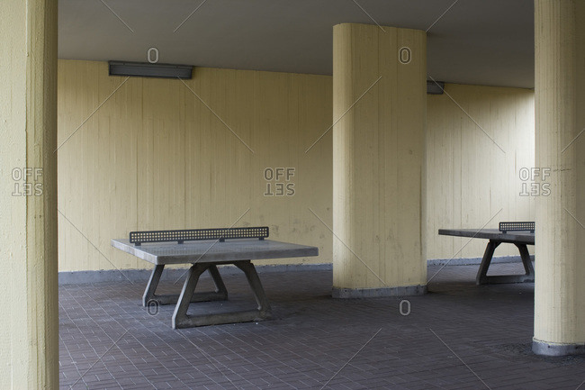 Urban concrete ping pong tables, Berlin