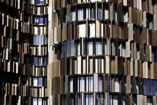 Windows of architectural building in Milan
