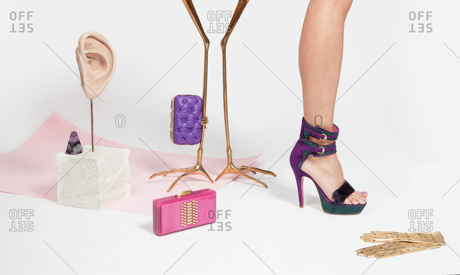 Woman's feet in stiletto shoe by accessories