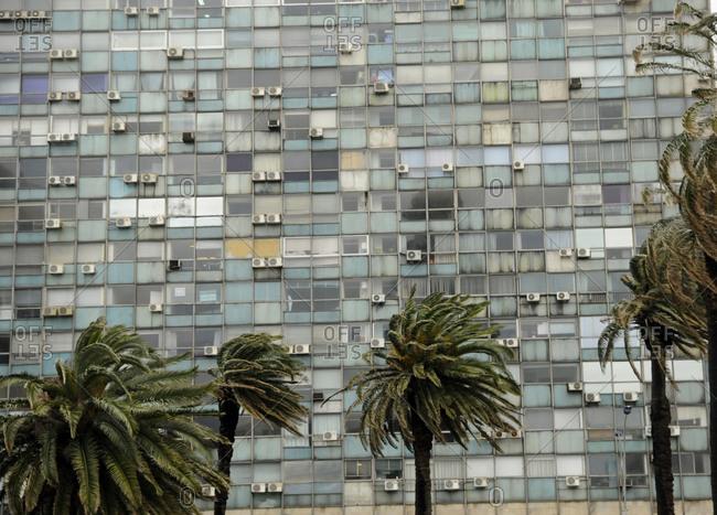 Tropical storm in Montevideo, Uruguay