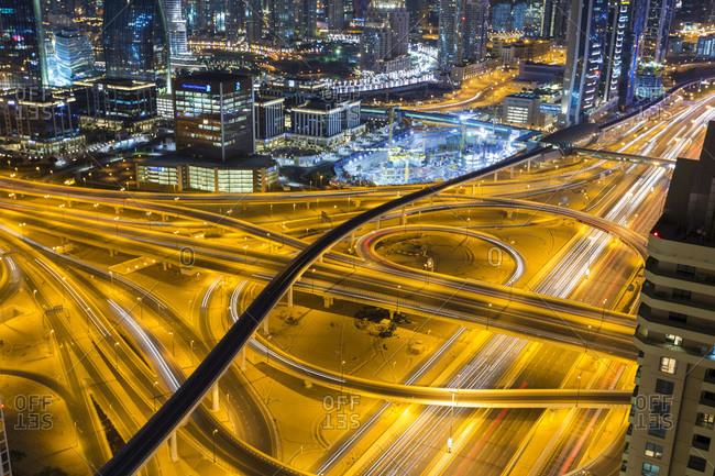 Busy interchange at night - Offset