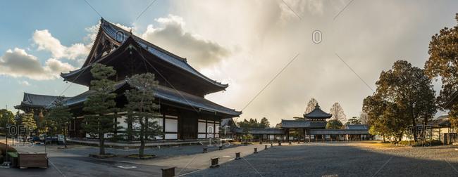 Kyoto, Japan - January 17, 2015: Tofuku-ji temple complex in Kyoto, Japan