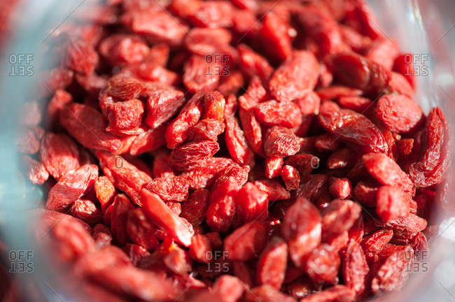 Goji berries ready for use in smoothies