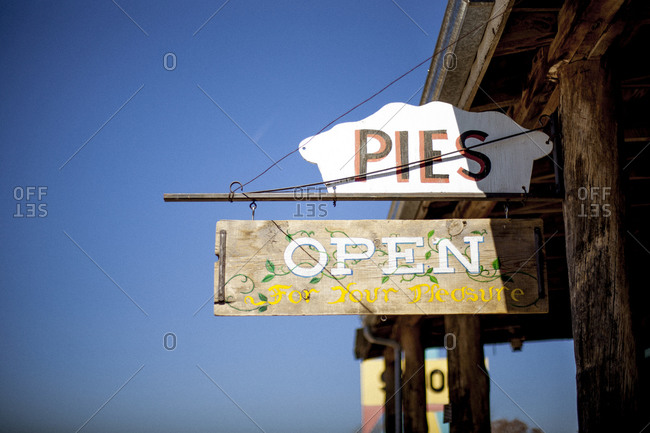 Sign of a pie shop